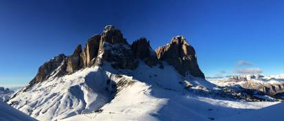 Breathtaking Dolomite scenery.