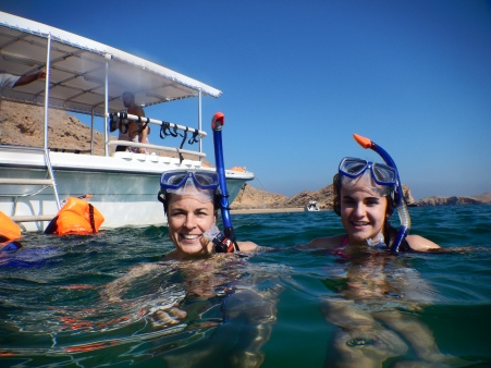 Snorkelling in the Gulf of Oman.