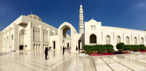 Sultan Qaboos Grand Mosque, in Muscat.