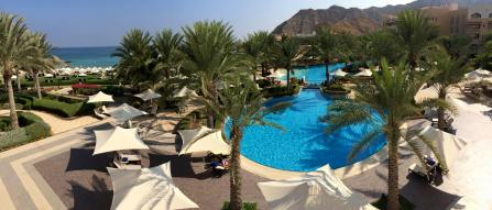 Not a bad view from our resort on the stunning coast of the Gulf of Oman.