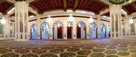Main prayer hall and carpet.